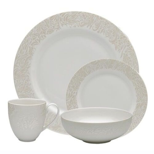 Denby 170040950 Monsoon Lucille Gold 16 Piece Tableware Set
