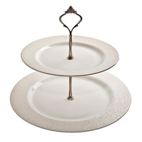 Denby 170010216 Monsoon Lucille Gold Cake Stand
