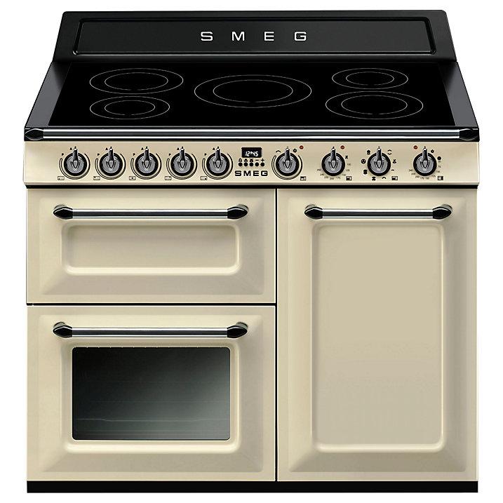 Smeg TR103IP Victoria Range Cooker with Induction Hob, Cream