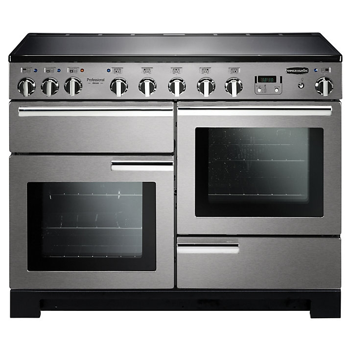Rangemaster PDL110EISS/C Professional Deluxe Induction 110 Range Cooker Stainless Steel