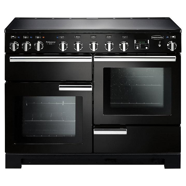 Rangemaster PDL110EIGB/C Professional Deluxe 110 Induction Range Cooker Black Chrome