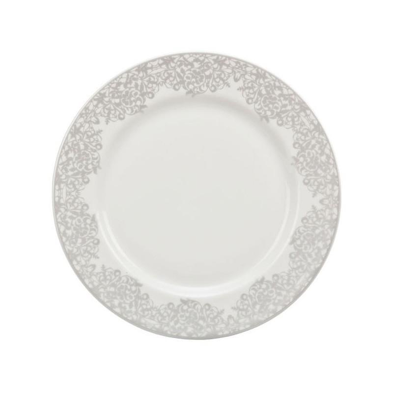 Denby 359010004 Monsoon Filigree Salad Plate - Silver