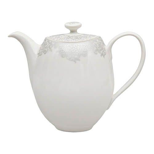 Denby 359010009 Monsoon Filigree Teapot - Silver