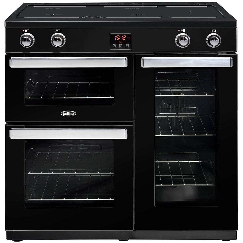 Belling Cookcentre 90EIBLK 90cm Electric Induction Range Cooker - Black