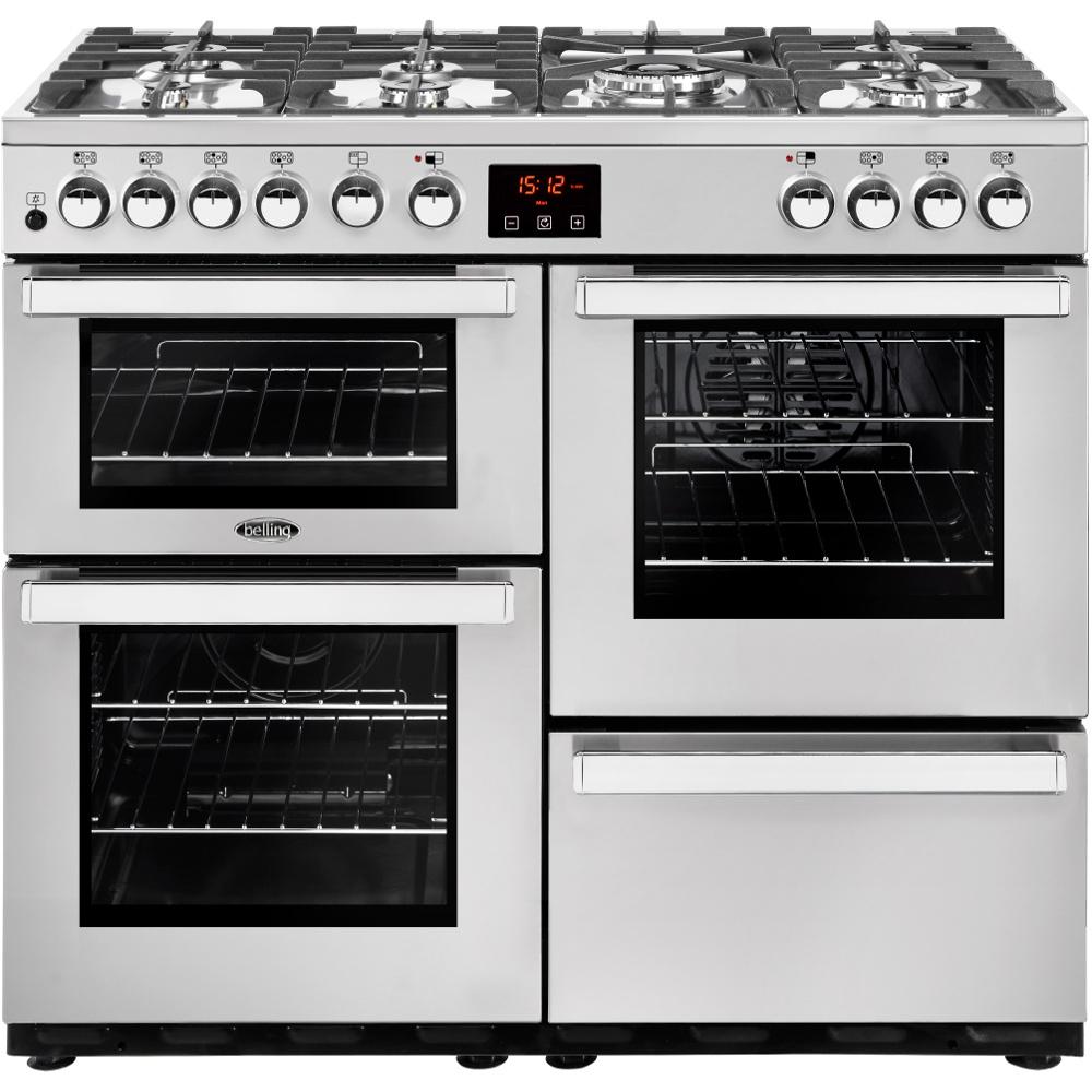 Belling Cookcentre 100DFTPROFSTA 100cm Dual Fuel Range Cooker-Professional - Stainless Steel