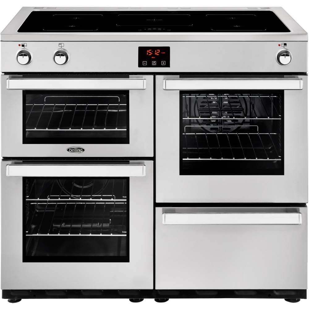 Belling Cookcentre 100EIPROFSTA 100cm Electric Induction Range Cooker-Professional - Stainless Steel