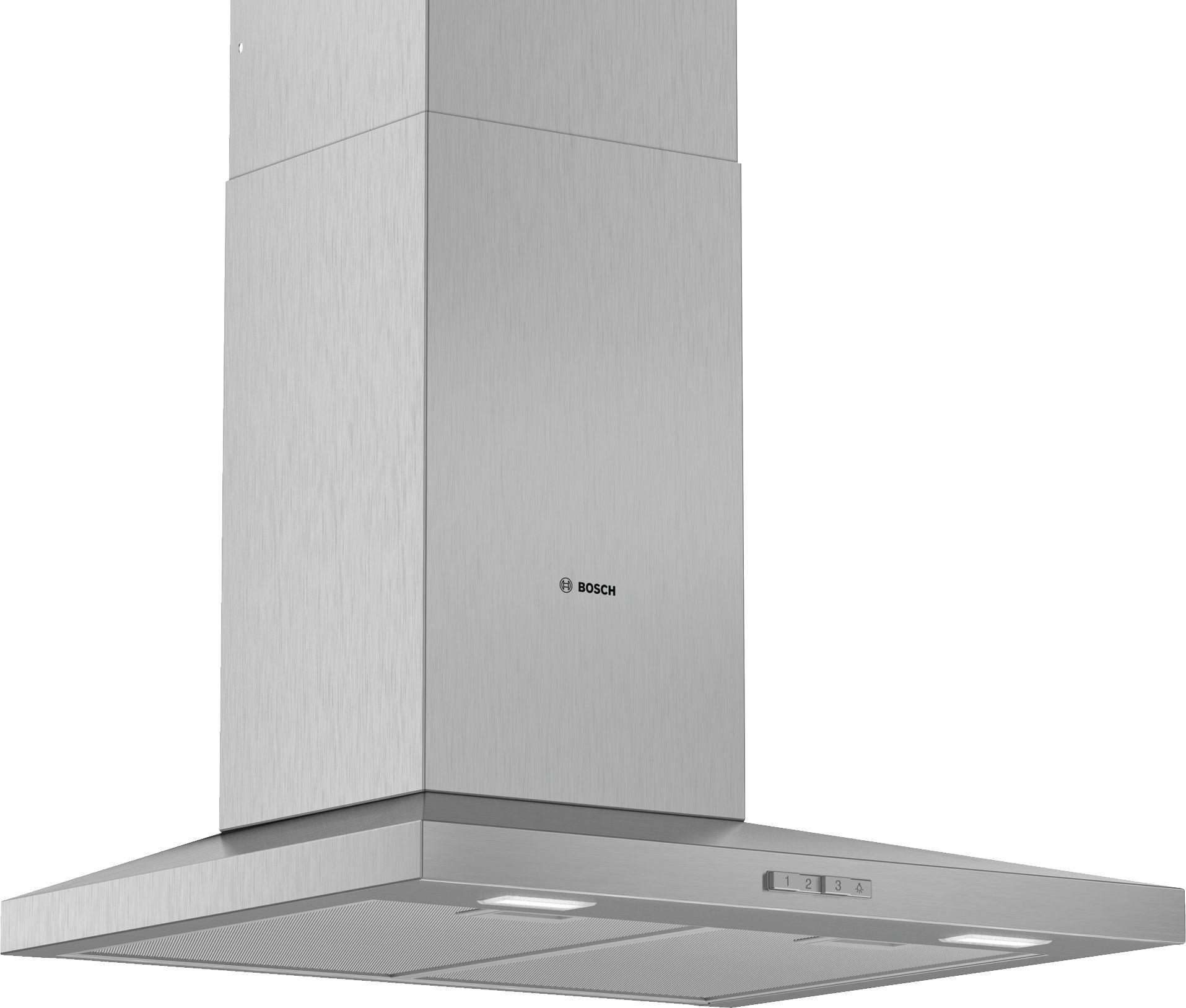 Bosch  Serie | 2 DWQ64BC50B 60cm Slim Pyramid Chimney Extractor Hood Brushed Steel