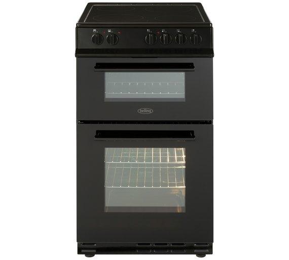 Belling FS50EDOFCBLK 50Cm Double Oven Cooker Ceramic Black
