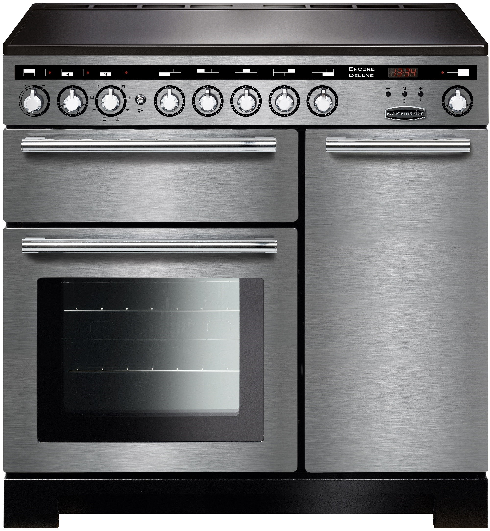 Rangemaster EDL90EISS/C Encore Deluxe 90 Electric Induction Stainless Steel/Chrome