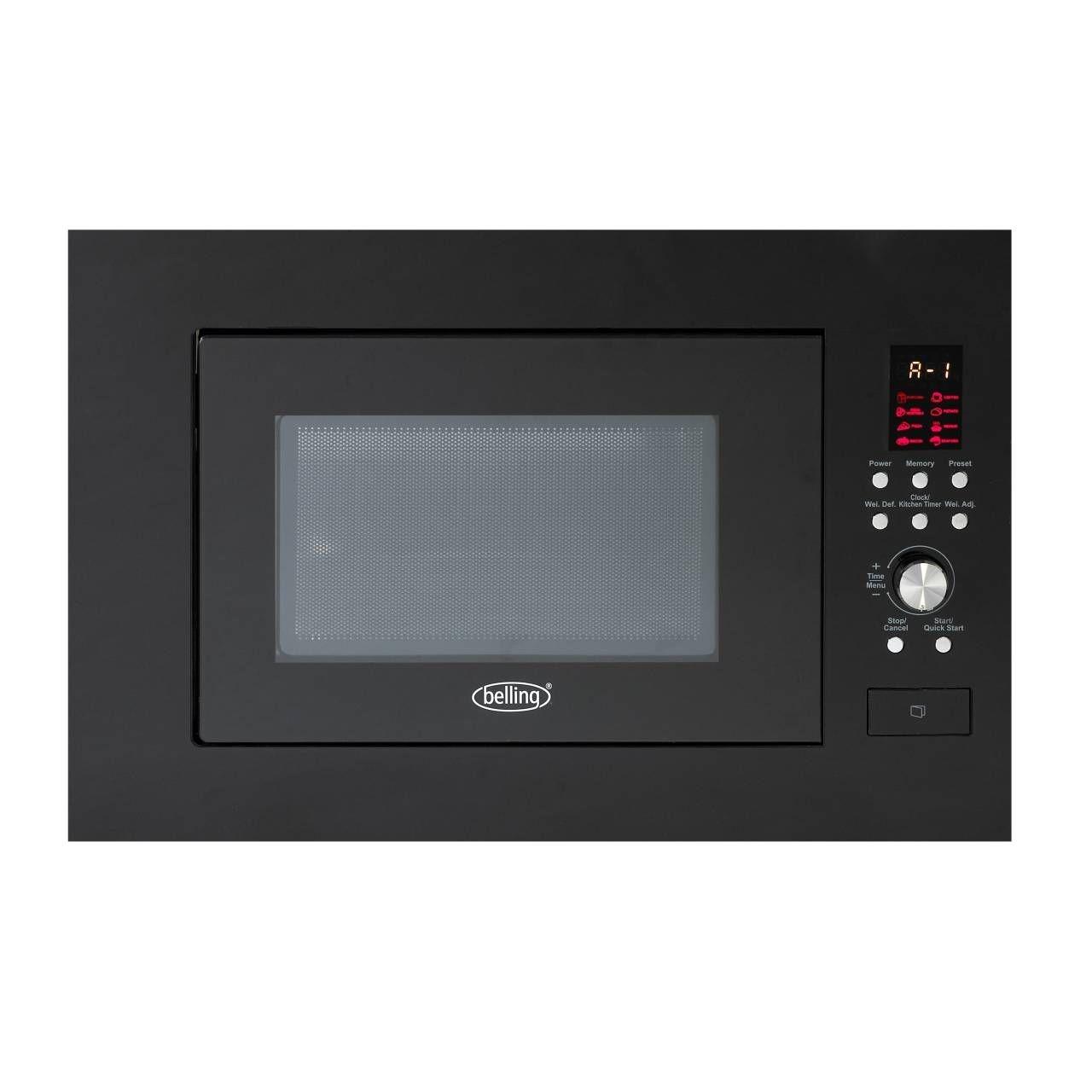 Belling BIM60BLK 23L Built In Microwave-Black *NI & ROI ONLY*