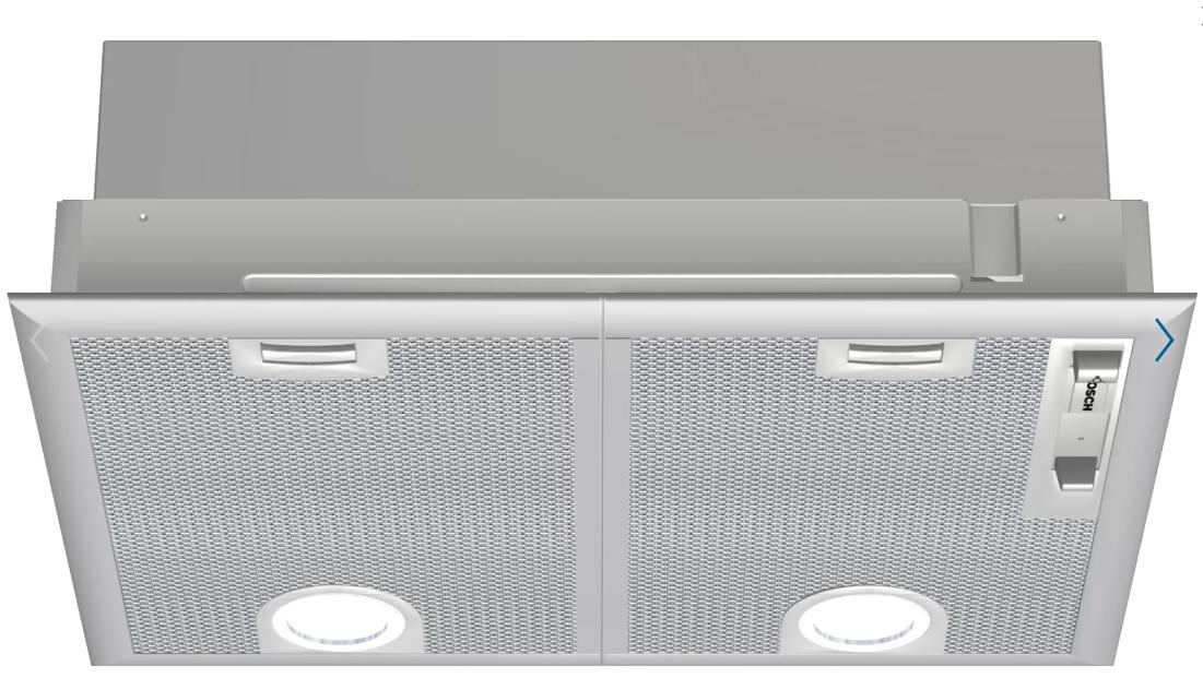 Bosch DHL555BLGB 53cm Canopy Cooker Hood-Silver
