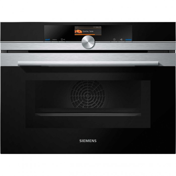 Siemens iQ700 CM656GBS6B Built In Compact Oven with Microwave Function-Stainless Steel