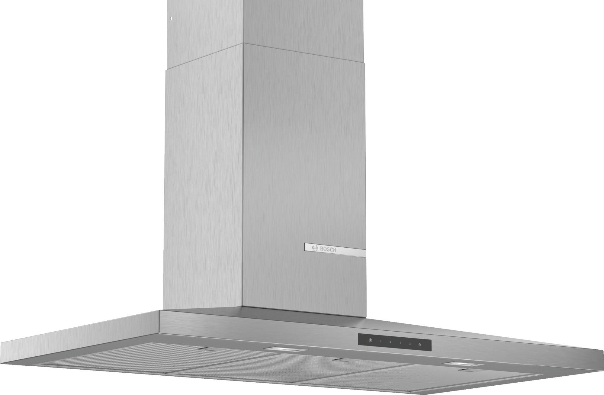 Bosch  Serie | 4 DWQ96DM50B 90cm Slim Pyramid Chimney Extractor Hood, Brushed Steel