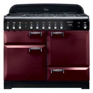 Rangemaster ELA110DFFCY ELAN Deluxe 110cm Dual Fuel Range Cooker Cranberry