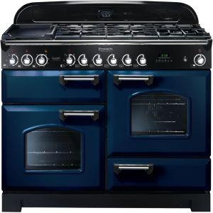 Rangemaster CDL110DFFRB/C Classic Deluxe 110cm Dual Fuel  Range Cooker Regal Blue/Chrome