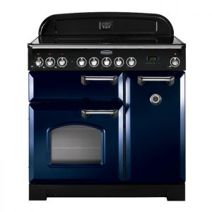 Rangemaster CDL90EIRB/C 90cm Classic Deluxe Electric Induction Regal Blue Range Cooker