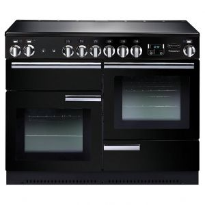 Rangemaster PROP110EIGB/C Professional Plus Electric Induction 110 Range Cooker Gloss Black