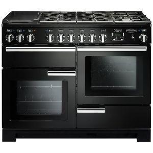 Rangemaster PDL110DFFGB/C Professional Deluxe Dual Fuel 110 Range Cooker Black Chrome