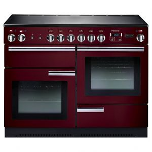Rangemaster PROP110ECCY/C Professional Plus Electric Ceramic 110 Range Cooker Cranberry Chrome