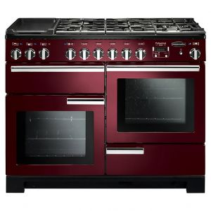 Rangemaster PDL110DFFCY/C Professional Deluxe Dual Fuel 110 Range Cooker Cranberry Chrome