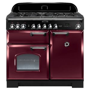 Rangemaster CDL100DFFCY/C Classic Deluxe 100Cm Dual Fuel - Cranberry Chrome