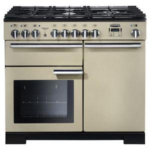 Rangemaster PDL100DFFCR/C Professional Deluxe 100 Dual Fuel Range Cooker, Cream
