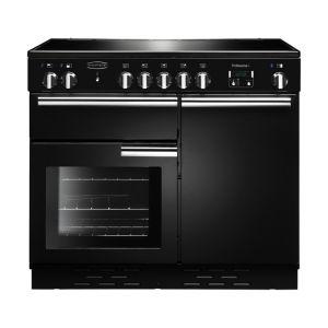 Rangemaster PROP100ECBL/C Professional Plus 100 Electric Ceramic Range Cooker Black