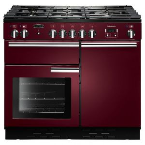 Rangemaster PROP100DFFCY/C  Professional + 100 Dual Fuel Range Cooker, Cranberry