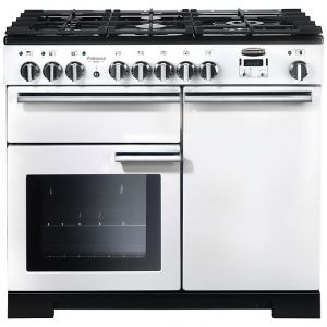 Rangemaster PDL100DFFWH/C Professional Deluxe 100 Dual Fuel Range Cooker, White