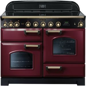 Rangemaster CDL110EICY/B Classic Deluxe Electric Induction 110cm Range Cooker - Cranberry Brass
