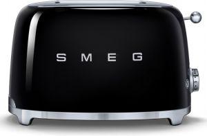 Smeg TSF01BLUK 50's Retro 2 Slice Toaster - Black