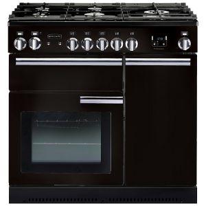 Rangemaster PROP90NGFGB/C Professional+ 90 Gas Range Cooker, Gloss Black