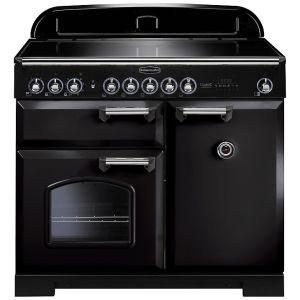 Rangemaster CDL100EIBL/C Classic Deluxe 100 Induction Hob Range Cooker, Gloss Black