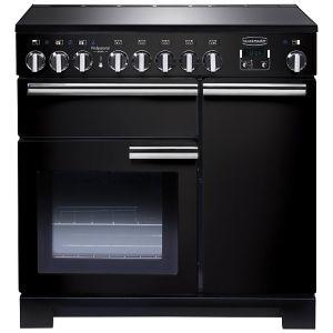 Rangemaster PDL90EIGB/C Professional Deluxe 90 Induction Hob Range Cooker, Gloss Black