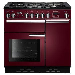 Rangemaster PROP90NGFCY/C Professional+ 90 Gas Range Cooker, Cranberry