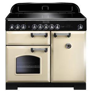 Rangemaster CDL100EICR/C Classic Deluxe 100 Induction Hob Range Cooker, Cream