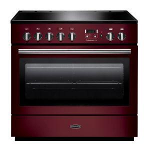 Rangemaster PROP90FXEICY/C Professional Plus FX 90 Electric Induction Range Cooker Cranberry/Chrome