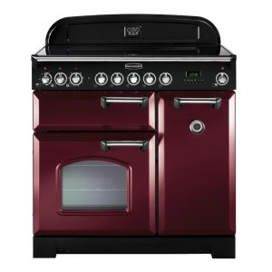 Rangemaster CDL90EICY/C Classic Deluxe 90cm Electric Induction Range Cooker Cranberry Chrome