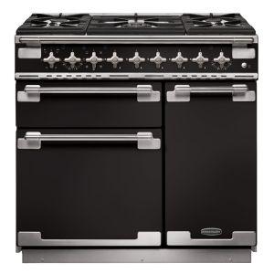 Rangemaster ELS90DFFGB Elise 90 Dual Fuel Range Cooker Black