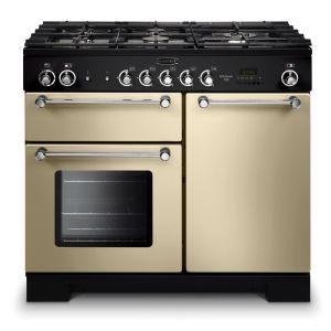 Rangemaster KCH100DFFCR/C Kitchener 100 Dual Fuel Range Cooker Cream Chrome