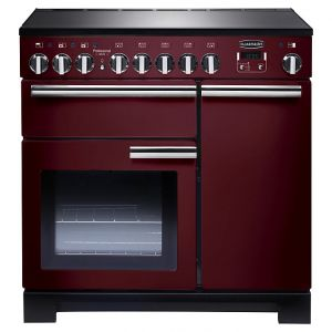 Rangemaster PDL90EICY/C Professional Deluxe 90 Induction Hob Range Cooker, Cranberry