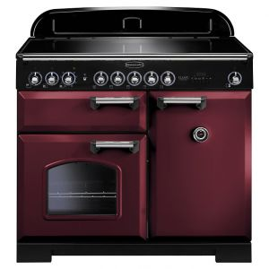 Rangemaster CDL100EICY/C Classic Deluxe 100 Induction Hob Range Cooker, Cranberry