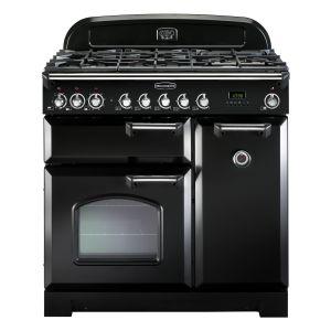 Rangemaster CDL90DFFBL/C Classic Deluxe 90 Dual Fuel Range Cooker Black & Chrome