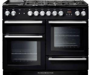 Rangemaster NEX110DFFBL/C Nexus 110cm Dual Fuel Range Cooker - Black