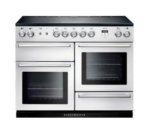 Rangemaster NEX110EIWH/C Nexus Electric Induction 110 Range Cooker White Chrome