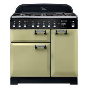 Rangemaster ELA90DFFOG ELAN Deluxe 90cm Dual Fuel Range Cooker Olive Green