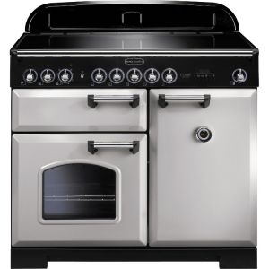 Rangemaster CDL100EIRP/C 100cm Classic Deluxe Electric Induction Royal Pearl/Chrome Range Cooker