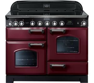 Rangemaster CDL110EICY/C Classic Deluxe Electric Induction 110Cm Range Cooker Cranberry Chrome