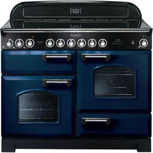 Rangemaster CDL110ECRB/C Classic Deluxe 110cm Electric Ceramic Range Cooker Regal Blue / Chrome
