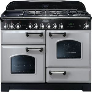 Rangemaster CDL110DFFRP/C Classic Deluxe Dual Fuel Range Cooker 110Cm Royal Pearl